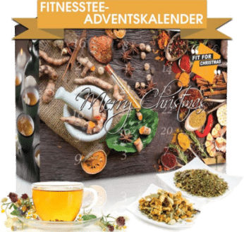 Wellness-Tee-Adventskalender 2020 Fit for Christmas Tees und Badesalze