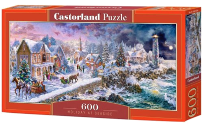 Weihnachtspuzzle 2019 Castorland B-060184 Holiday at Seaside, Puzzle 600 Teile 2017