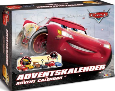 Craze 13786 - Adventskalender Disney Pixar Cars Spielzeuge