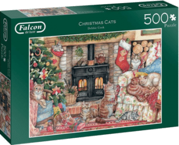 Jumbo 11239 Christmas Cats 500 Teile Weihnachtspuzzle