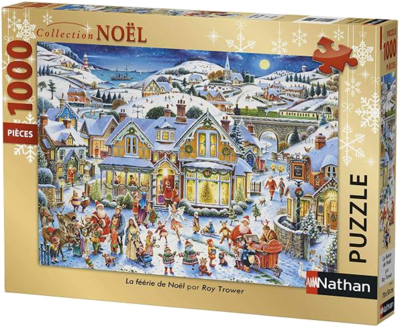 Nathan 87567 Weihnachtspuzzle 2019 1000 Teile