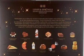 Lindt Weihnachts-Tradition Adventskalender Inhalt