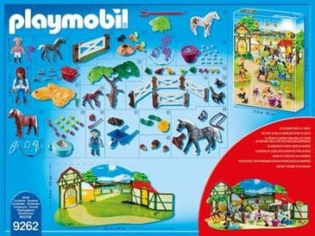 Playmobil 9262 Adventskalender Reiterhof Inhalt