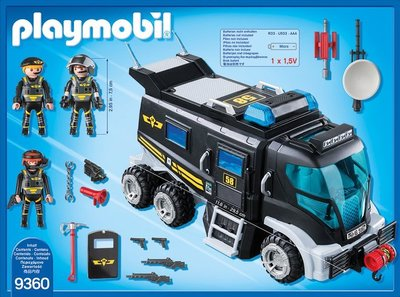 Playmobil City Action 9360 SEK Truck mit Licht und Soundeffekten