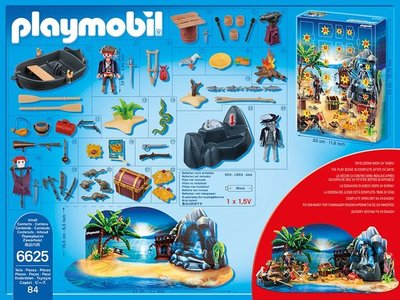 Playmobil 6625 Adventskalender Geheimnisvolle Piratenschatzinsel