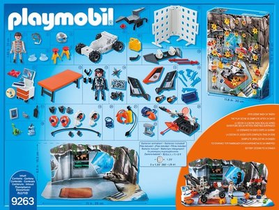 Playmobil 9263 Adventskalender Spy Team Werkstatt
