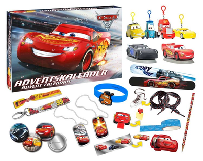 Craze 57361 Disney Cars 3 Adventskalender Pixar 2017 Inhalt