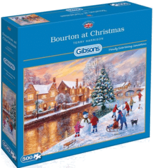 Gibsons G3088 Weihnachtspuzzle Bourton at Christmas 500 Teile