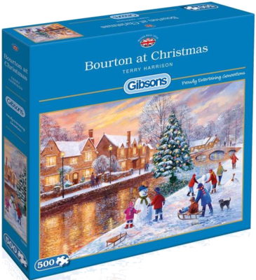 "Gibsons G3088 Weihnachtspuzzle  ""Bourton at Christmas"" 500 Teile"