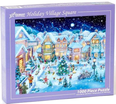 Vermont Christmas Company Holiday Village Square 1000 Teile Weihnachtspuzzle 2019