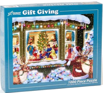 Vermont Christmas Company Gift Givign 1000 Teile Puzzle WEIHNACHTEN
