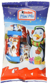 Kinder Mini Mix Beutel 4er Pack - Kinderschokolade Weihnachten