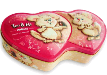 Valentinstag Pralinen You & Me in Herz-Dose
