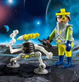 Playmobil 9416 Space-Agent mit Roboter Spiel