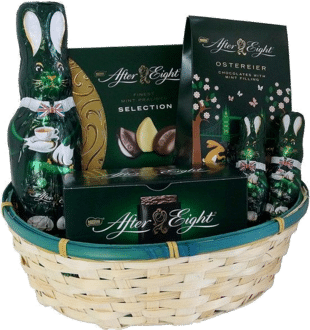 After Eight Geschenk Set Osternest Schokohase