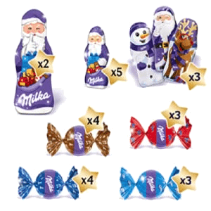 Milka Mix Adventskalender Inhalt