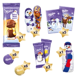 Milka Snow Mix Kalender Inhalt