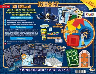 CRAZE 24720 Adventskalender Escape Exit Game Inhalt