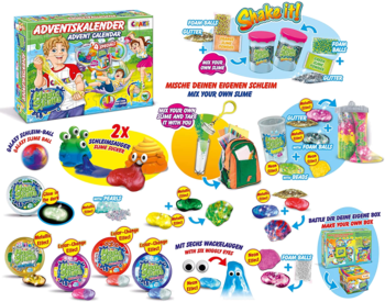 CRAZE 24737 Adventskalender Kinder Magic Slime Inhalt