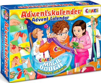 Craze 24744 - Magic Dough Intelligente Superknete Adventskalender Kinder 2020