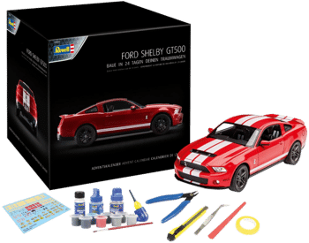 Revell 01031 Ford Shelby GT Adventskalender Inhalt