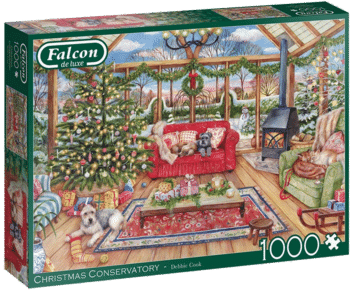 Falcon Deluxe 11275 The Christmas Conservatory Puzzle 1000-teilig