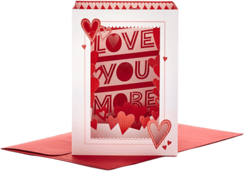 Hallmark Paper Wonder Pop-Up-Karte zum Valentinstag Love You More