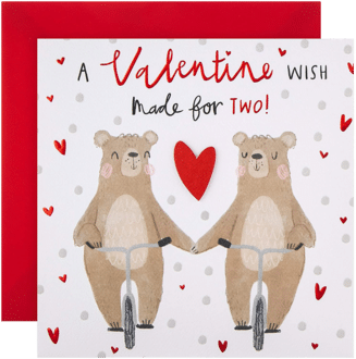 Valentinskarte Hallmark A Valentine Wish Made for Two