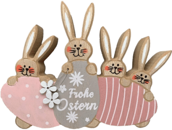Osterfamilie Osterhase aus Holz 2021
